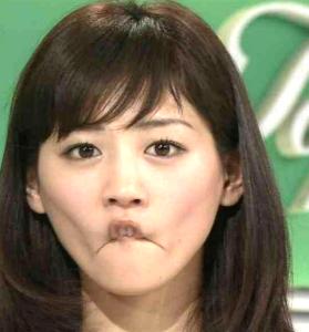 変顔綾瀬はるかのモノマネメイク方法!